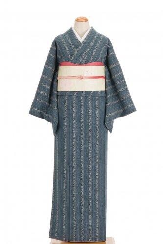 染紬 萩とドットの縞模様のサムネイル画像