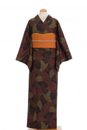 紬 葉模様の短冊のサムネイル画像