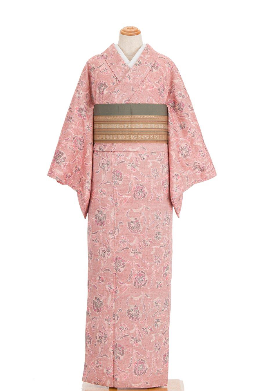 「紬 くすみピンク 小花」の商品画像
