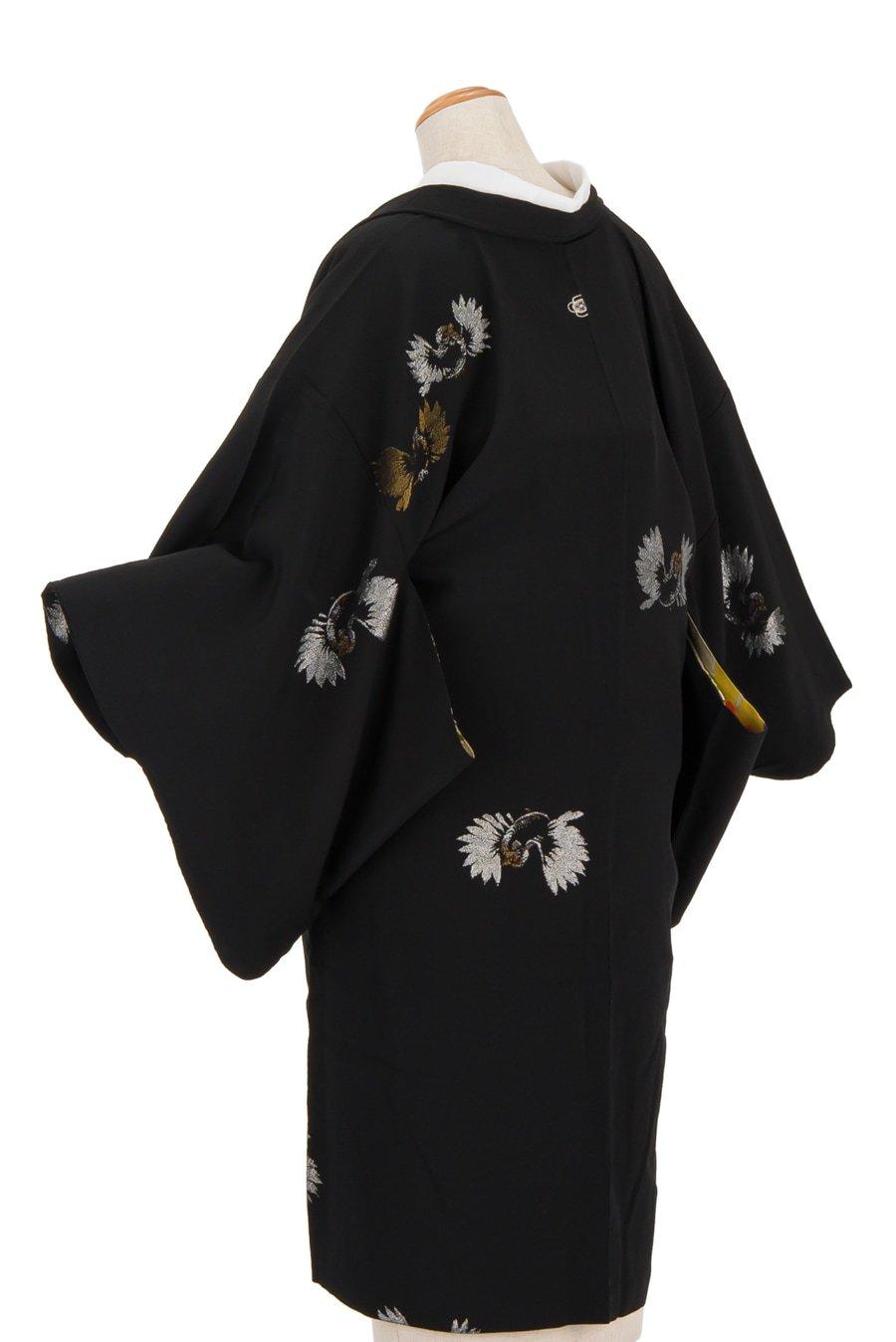 「アンティーク着物 一つ紋 雀」の商品画像