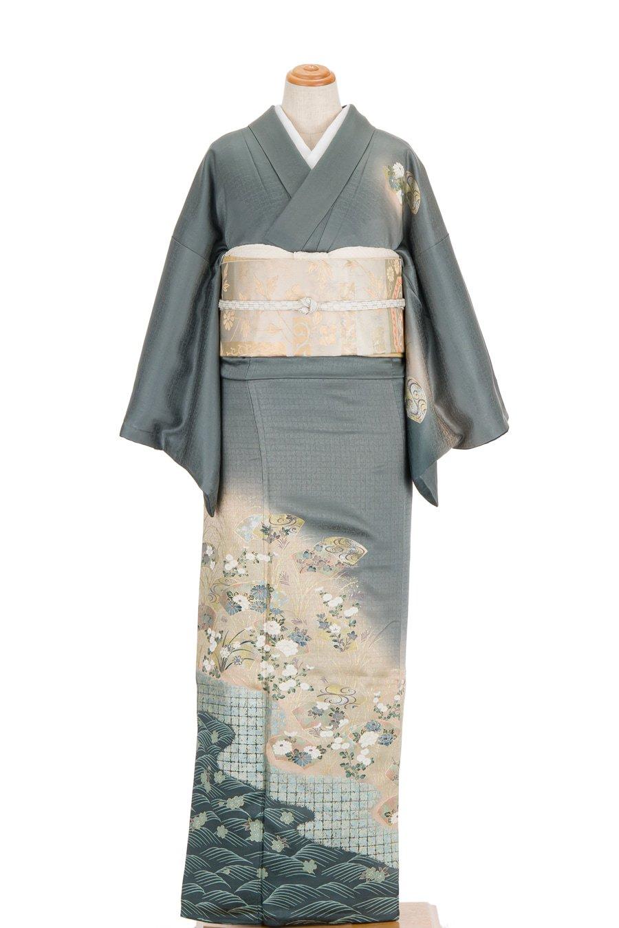 「訪問着 扇面 波に桜」の商品画像