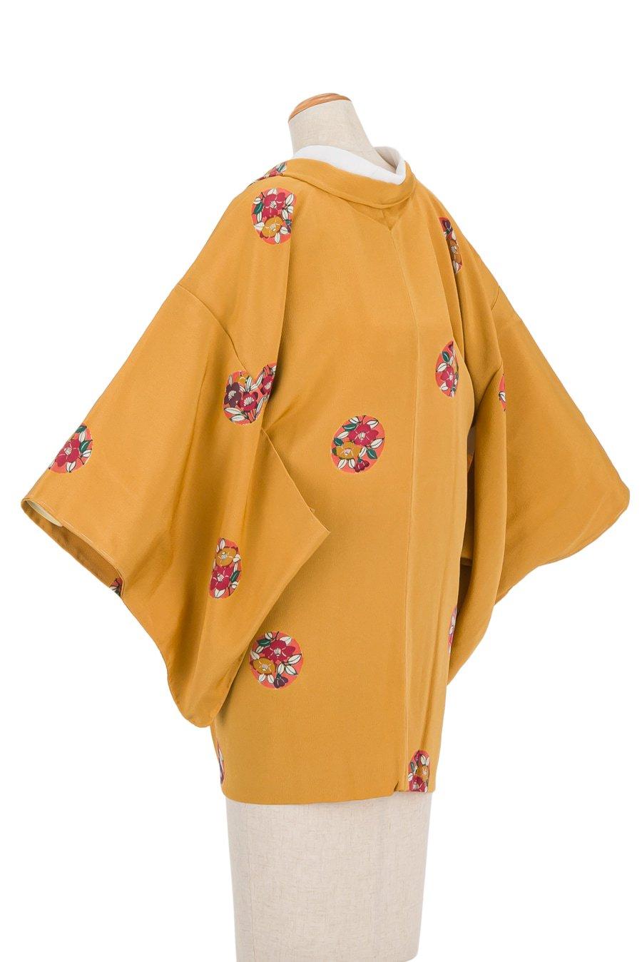 「辛子色 丸に椿」の商品画像