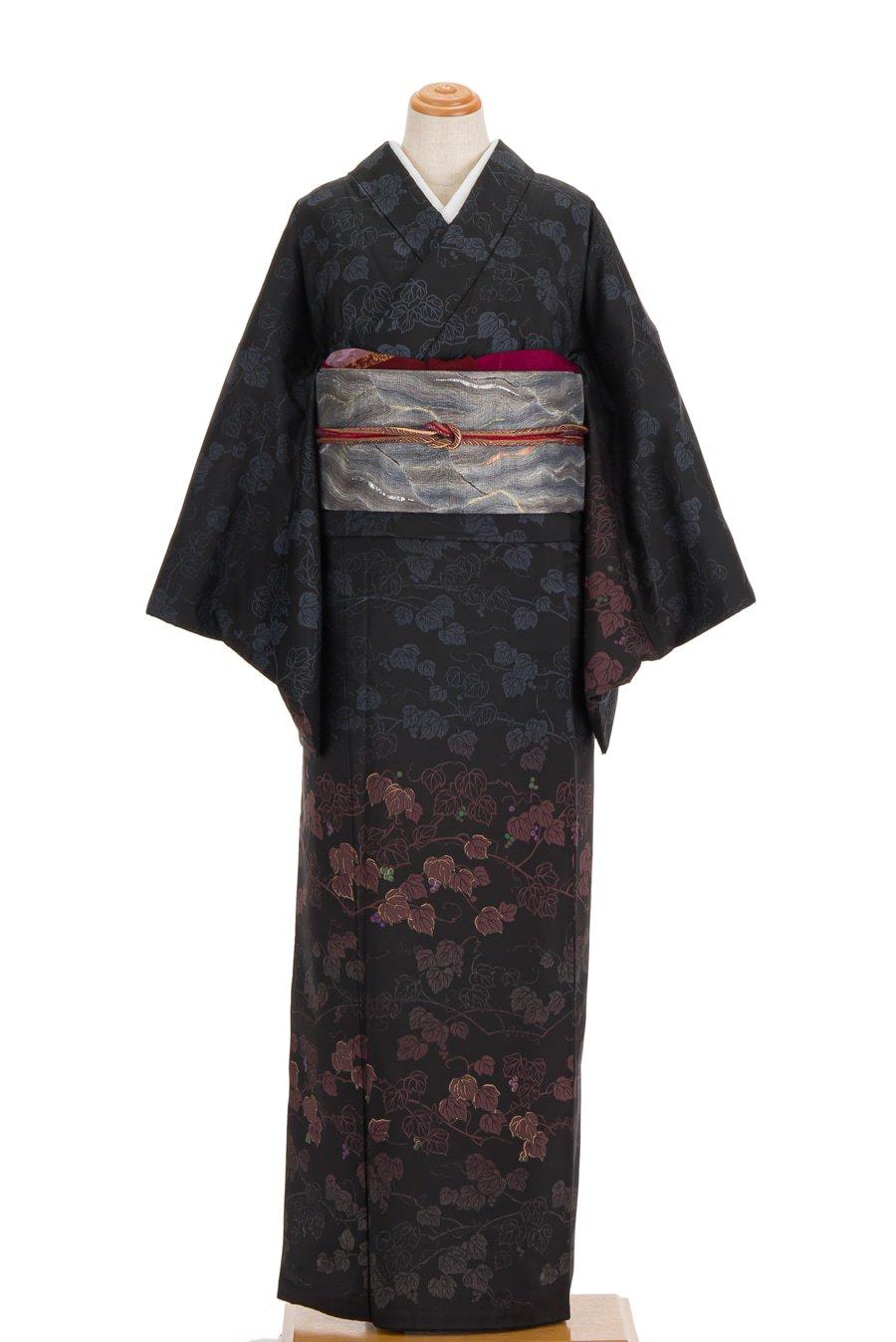 「大島紬訪問着 グラデーションカラーの葡萄」の商品画像