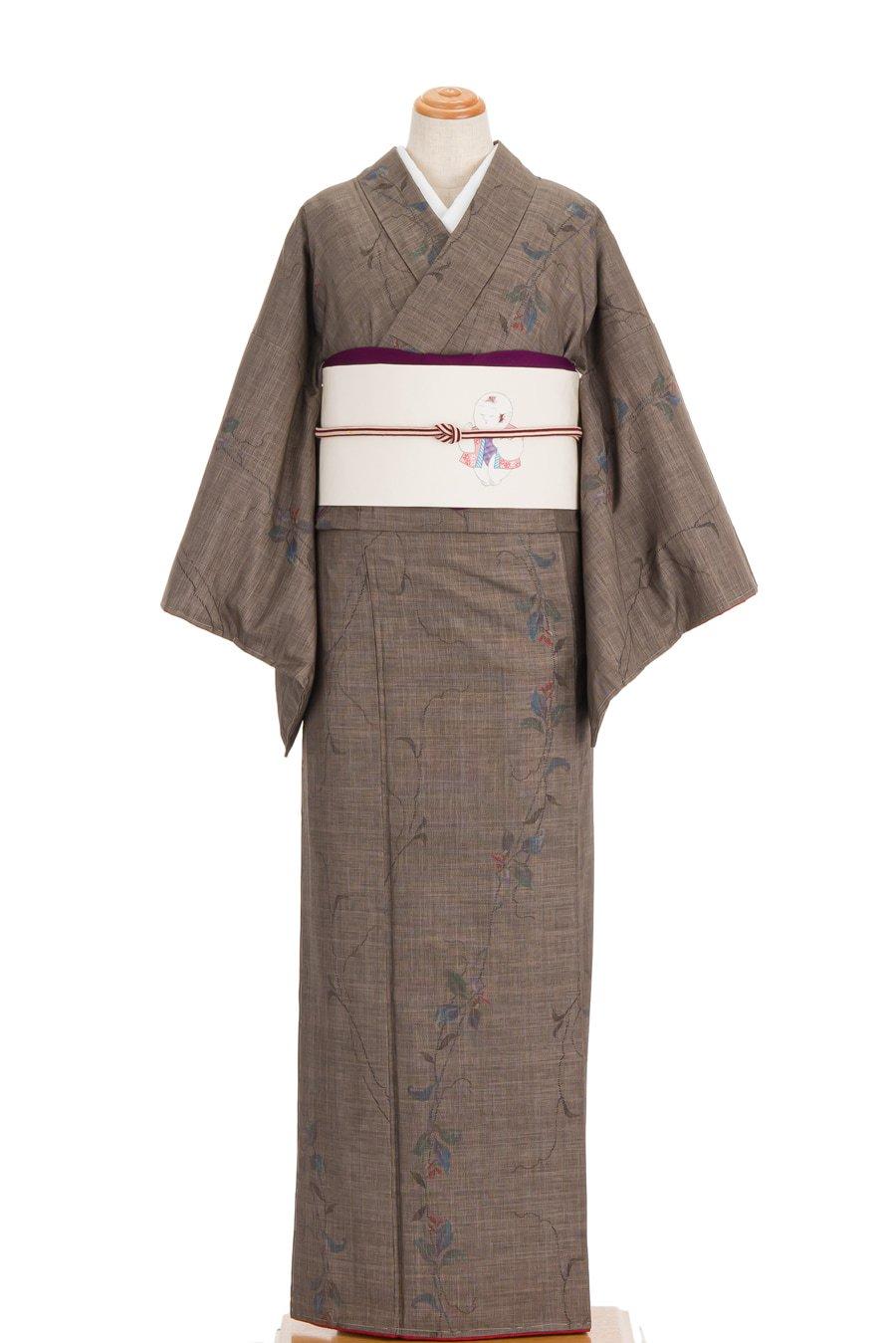 「大島紬 蔓と小花」の商品画像