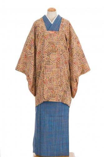 アンティーク着物 道行コート 格子に丸のサムネイル画像