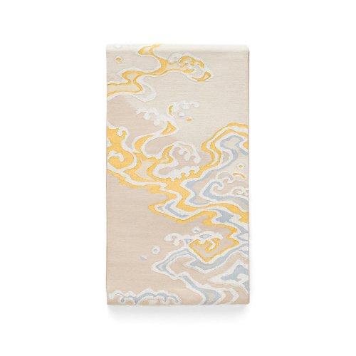 袋帯●綴れ 金の波