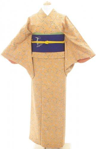 黄土色の地 黒縁ラインのお花のサムネイル画像