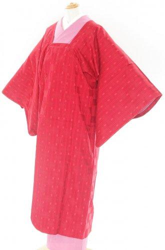 赤地 四角模様 雨ゴートのサムネイル画像