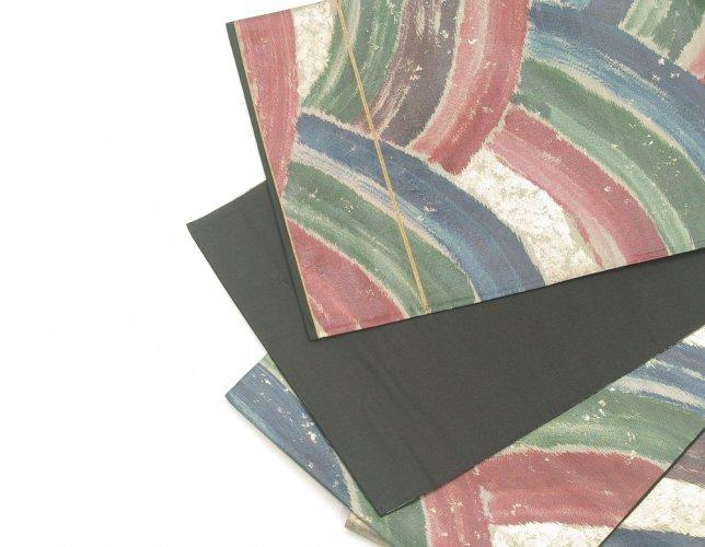 袋帯●濃い目カラーの虹風ラインのサムネイル画像