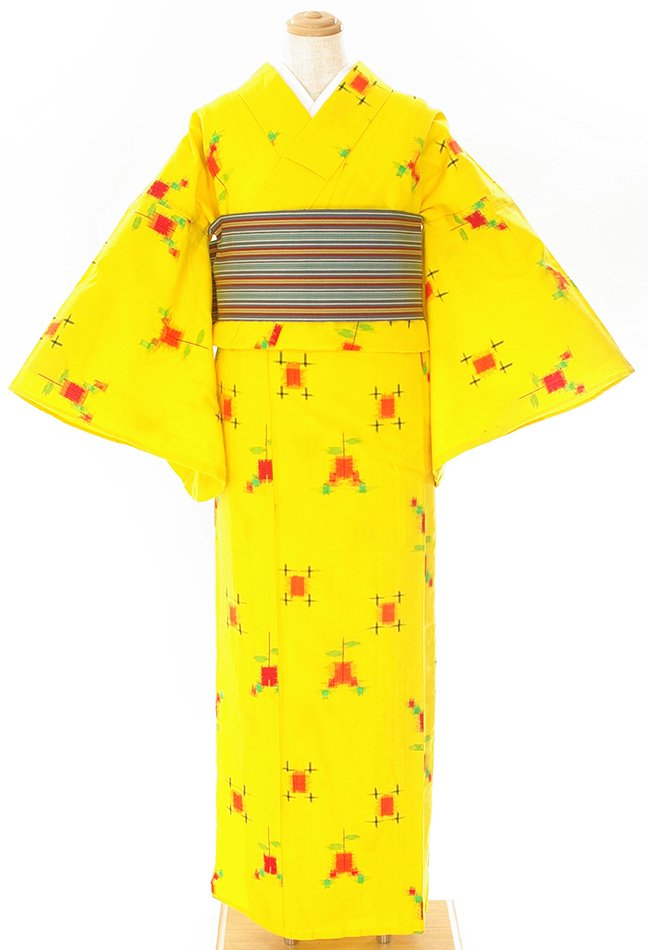 「単ウール●黄色にりんごあめみたいなお花」の商品画像