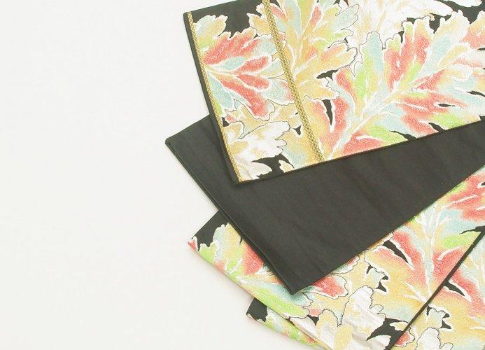 袋帯●オーロラ色の菊の葉のサムネイル画像