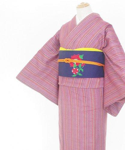 2点セット*紫ベースの縞 赤い花の帯のサムネイル画像