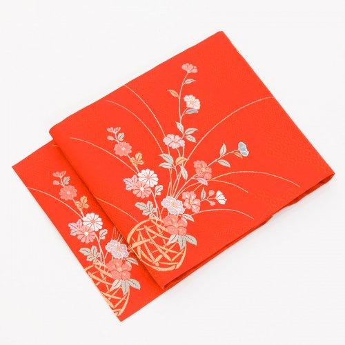柿色地 菊・桔梗・椿などのサムネイル画像