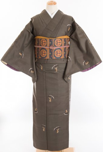 アンティーク 銘仙 松の木のサムネイル画像