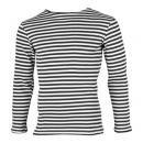 夏季ボーダーシャツ <br>(ブラック・綿100%)