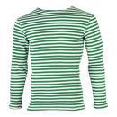 夏季ボーダーシャツ<br>(グリーン・綿100%)