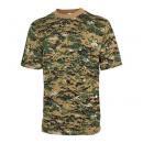迷彩Tシャツ<br>(Digital Green・綿100%)