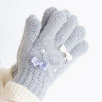 【50%OFF!】パールリボン手袋(2023301)/S・M