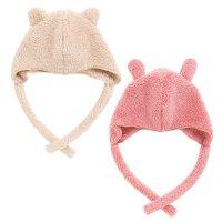 【NEW ARRIVAL】 mokomokoボア 耳付きベビー帽子(Y-9301)
