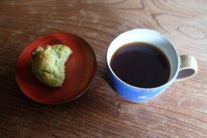 緑茶とはちつのスコーン(軽いタイプ)