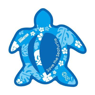 ホヌ型リボンマグネット  パターン(L-size) ブルー / ライトブルー
