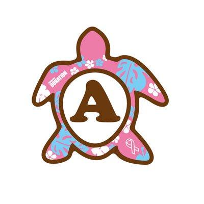 ホヌ型リボンマグネット(S-size) アルファベットモデル A