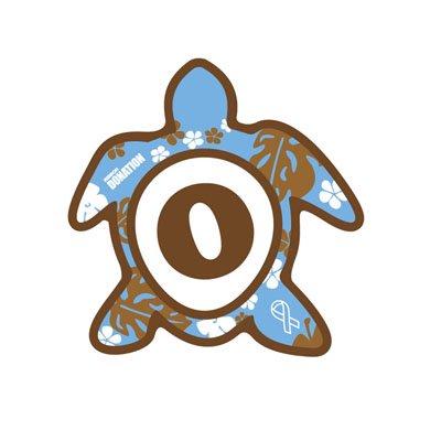 ホヌ型リボンマグネット(S-size) アルファベットモデル O
