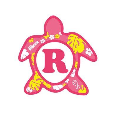 ホヌ型リボンマグネット(S-size) アルファベットモデル R