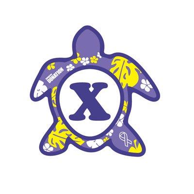 ホヌ型リボンマグネット(S-size) アルファベットモデル X