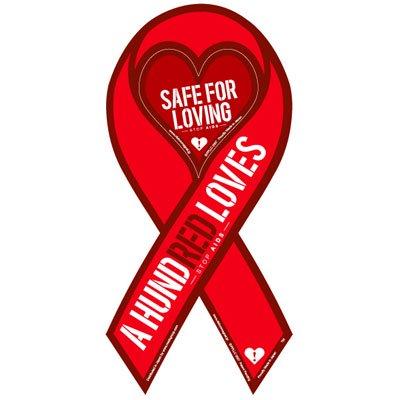 エイズ予防リボンマグネット