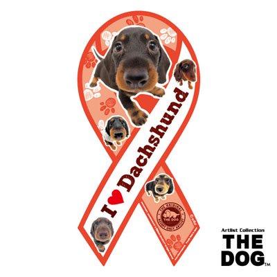 リボンマグネット THE DOG(ザ・ドッグ)ダックスフンド・ブラック