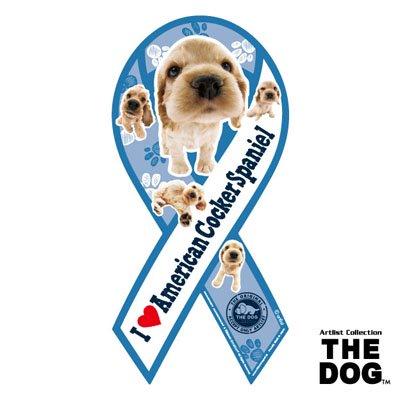 リボンマグネット THE DOG(ザ・ドッグ)アメリカン・コッカー・スパニエル