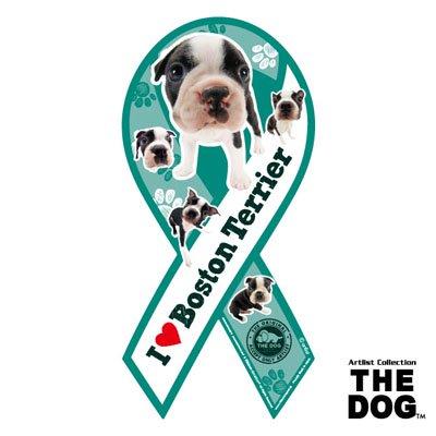 リボンマグネット THE DOG(ザ・ドッグ)ボストンテリア