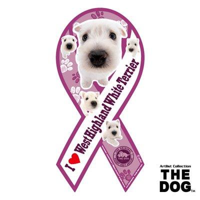 リボンマグネット THE DOG(ザ・ドッグ)ウェストハイランドホワイトテリア