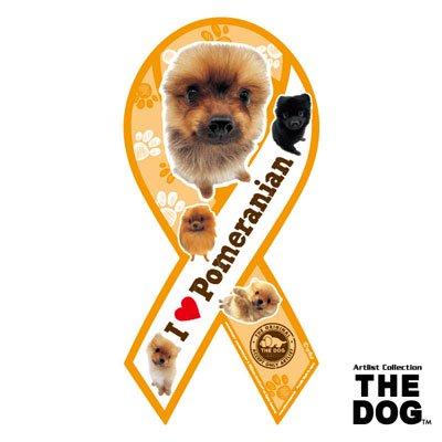 リボンマグネット THE DOG(ザ・ドッグ)ポメラニアン