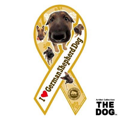 リボンマグネット THE DOG(ザ・ドッグ)ジャーマン・シェパード・ドッグ