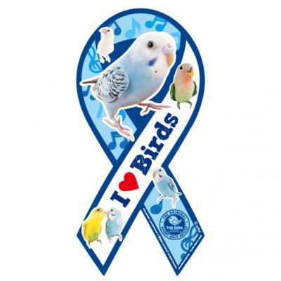 リボンマグネット THE BIRD(ザ・バード)ブルー