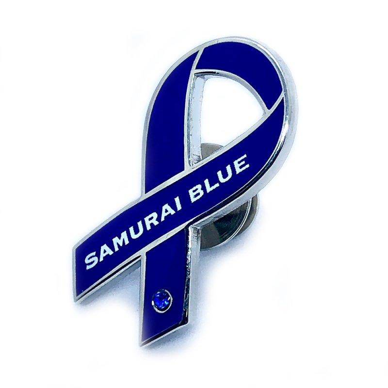 サッカー日本代表「SAMURAI BLUE」ピンバッジ(シルバー台)