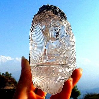ヒマラヤ水晶彫刻 〜クリアライト仏陀〜