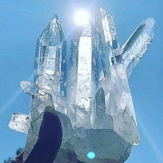 コロンビア水晶、、、マスターイシスクラスター