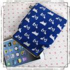 ipad mini、Nexus7、kindle他を可愛く収納!7インチタブレットがま口ポーチ:ウシさんブルー