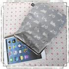 ipad mini、Nexus7、kindle他を可愛く収納!7インチタブレットがま口ポーチ:ウシさんグレー