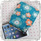 ipad mini、Nexus7、kindle他を可愛く収納!7インチタブレットがま口ポーチ:青花