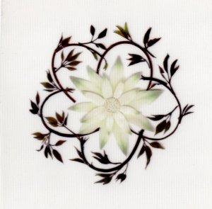 花柄(押し花)シール・フランネル
