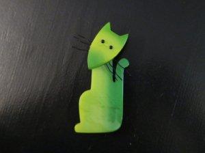 Pavone 緑のキツネのブローチ(S7424)