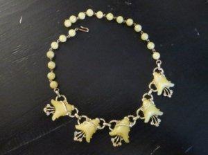 黄色いお花のネックレス(S7830)