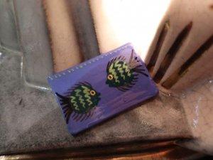 やきもののお魚のブローチ(S7840)