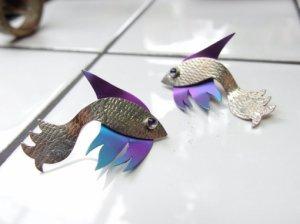 シルバーのお魚のピアス(S7921-4)