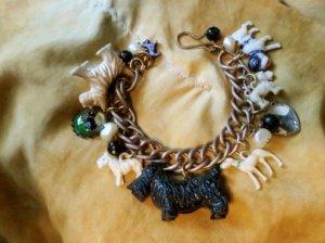 犬のオールドチャームブレスレット(S8156)
