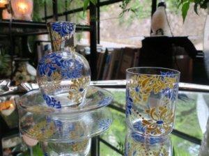 Delvaux エナメル絵付け冠水瓶 (aaa10)